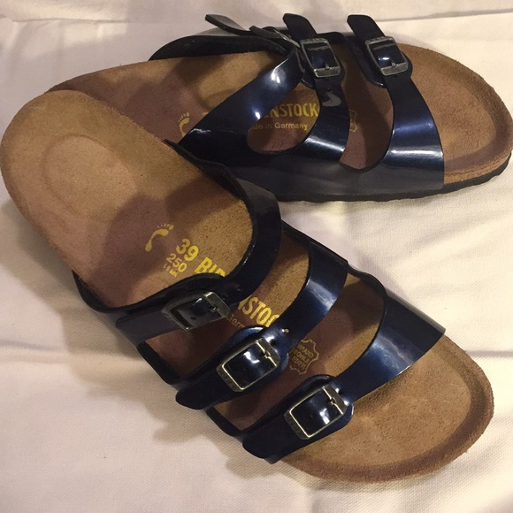 5decbb159 Birkenstock Shoes | Nwt Florida Navy Patent Leather | Poshmark